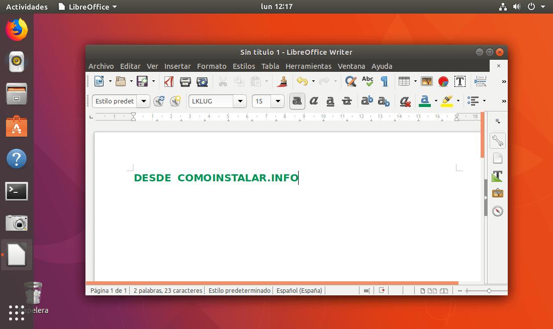 Cómo instalar Libre Office en Linux