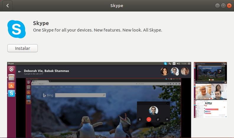 Instalar Flatpaks Skype