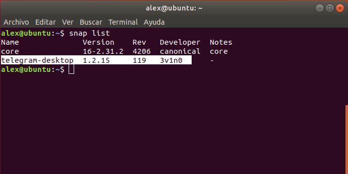 Listar snap instaldo Linux