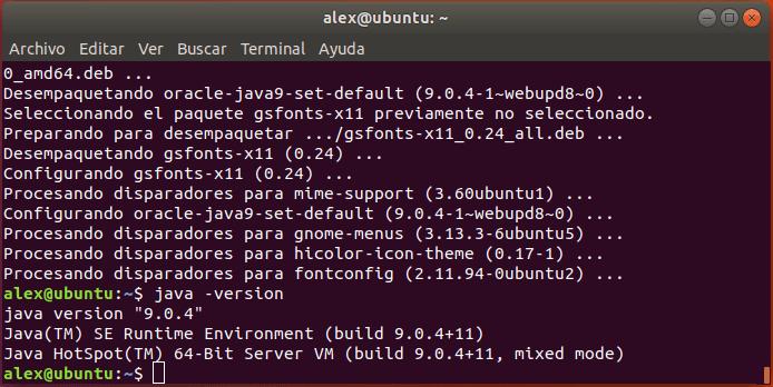 Verificar versión Java instalada