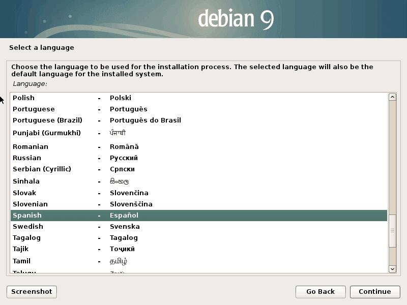 Instalación de Debian 9