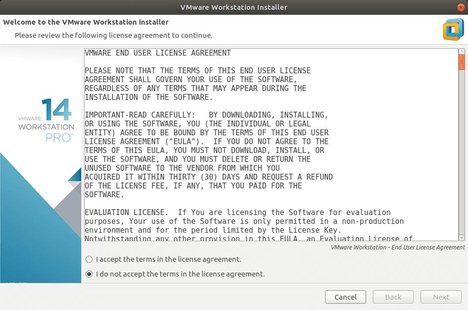 Instalación de Vmware Workstation Pro