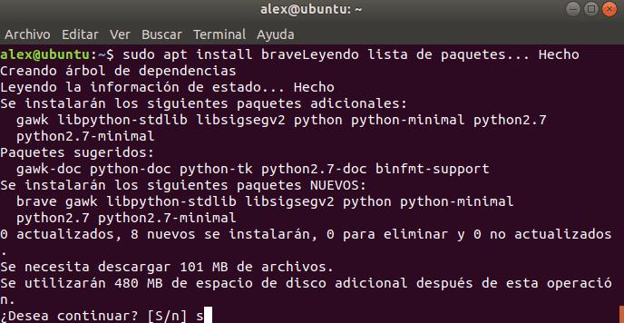 Instalar Brave en Debian y Ubuntu
