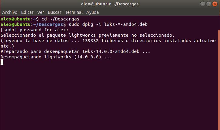 Instalar Lightworks Ubuntu Debian