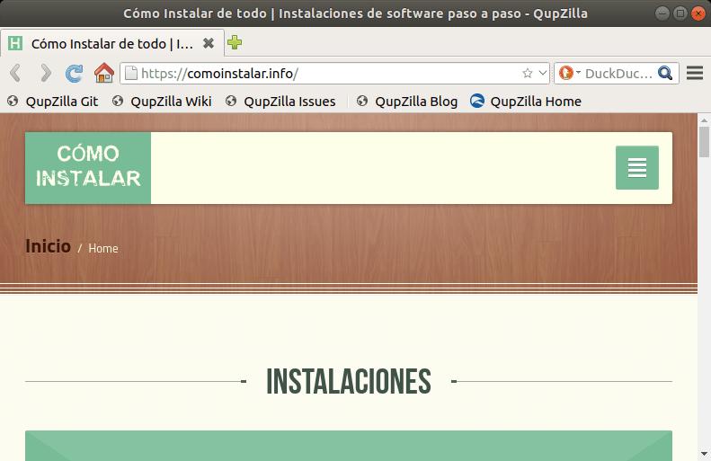 Instalar Qupzilla en Linux