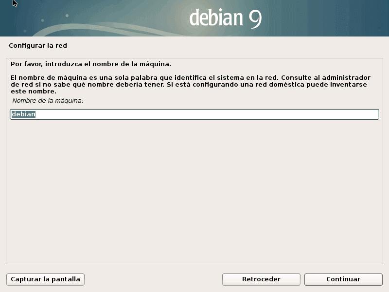 Nombre de host en Debian