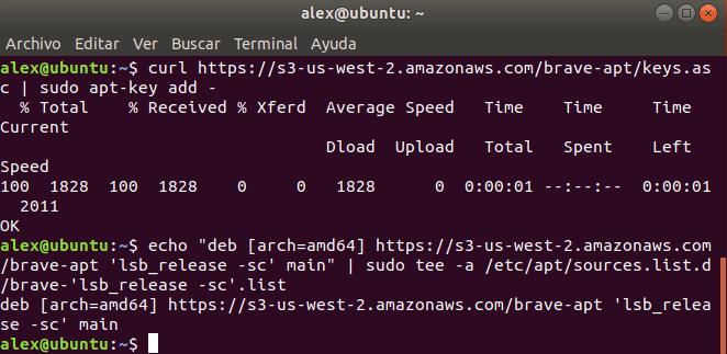 Repositorio Brave en Debian y Ubuntu