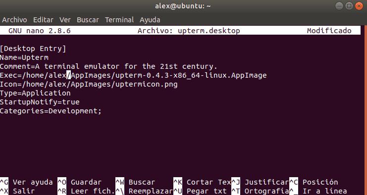 upterm desktop Linux