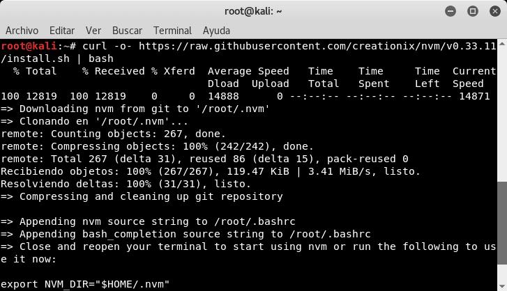Instalar Nodejs en Linux usando NVM