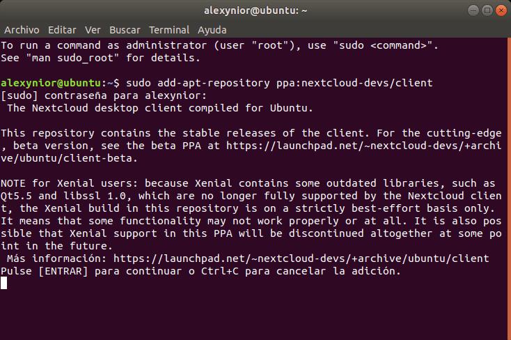 PPA de Netcloud en Ubuntu