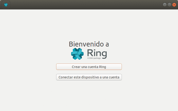 Software de mensajería Ring en Linux