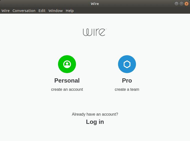 Wire Messenger en Linux