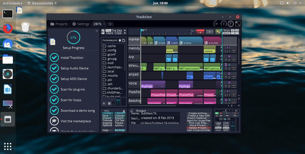 Cómo instalar Tracktion T7 en Linux