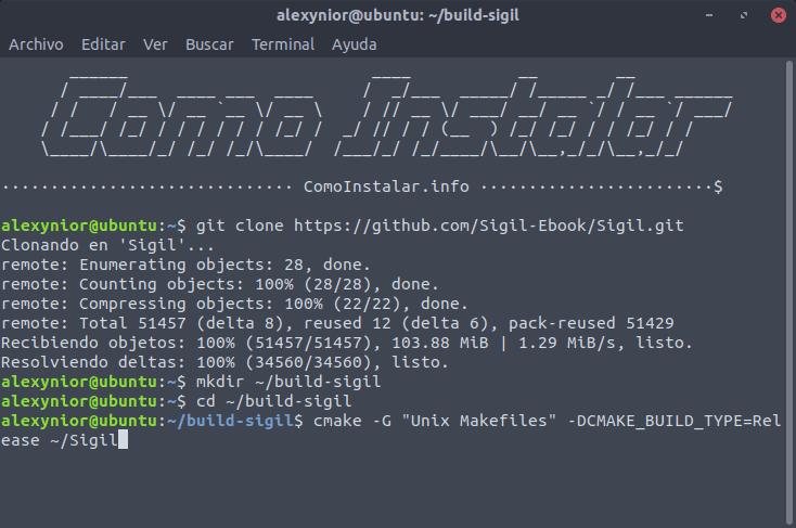 Construir e instalar Sigil en Linux