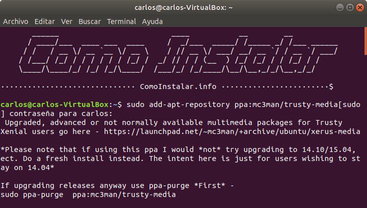 Instalar FFmpeg en Ubuntu