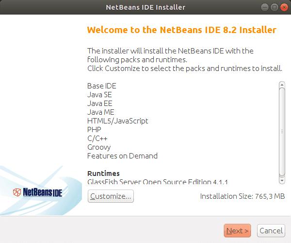 NetBeans IDE. Installer Img 1