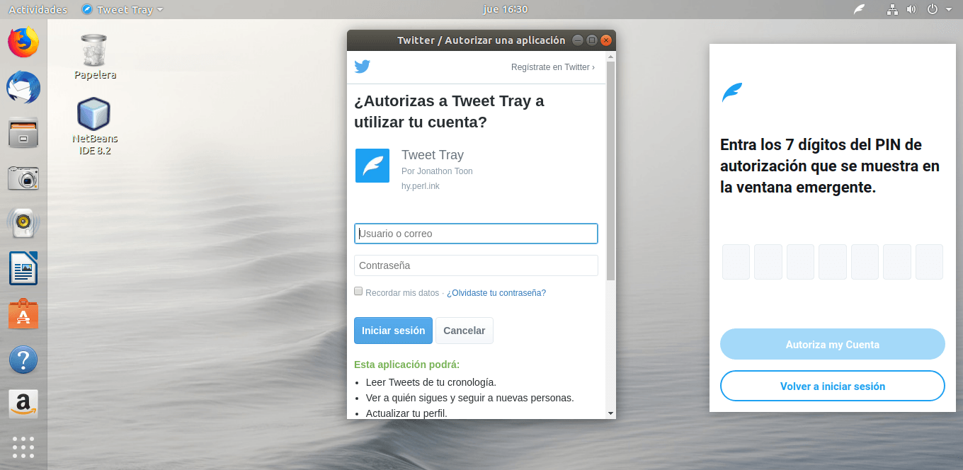 Tweet Tray en Linux