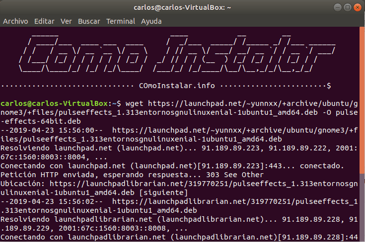 Configurar PPA PulseEffects en Linux