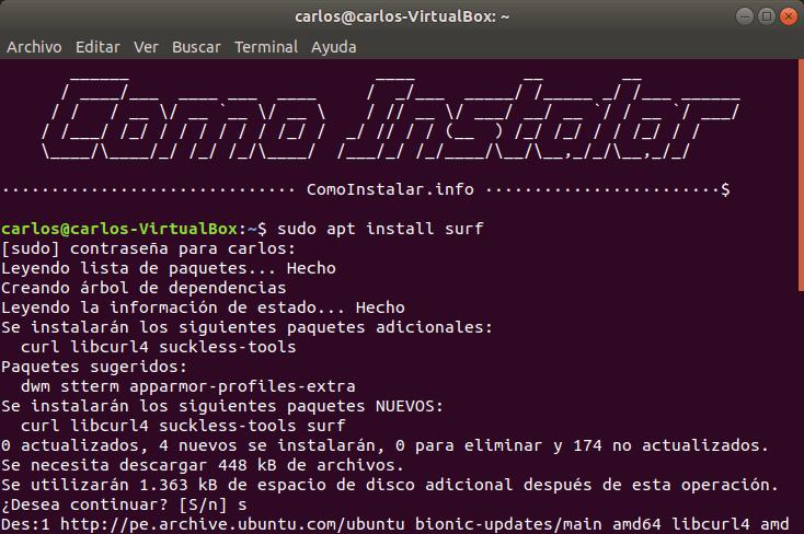 Configurar PPA Surf en Linux