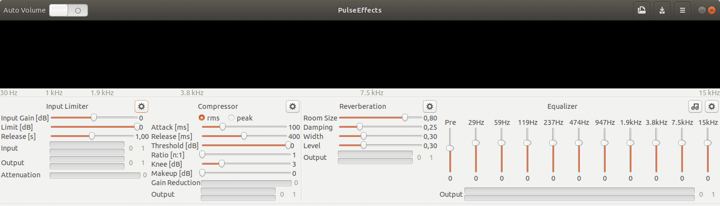 Ecualizador de audio PulseEffects en Linux