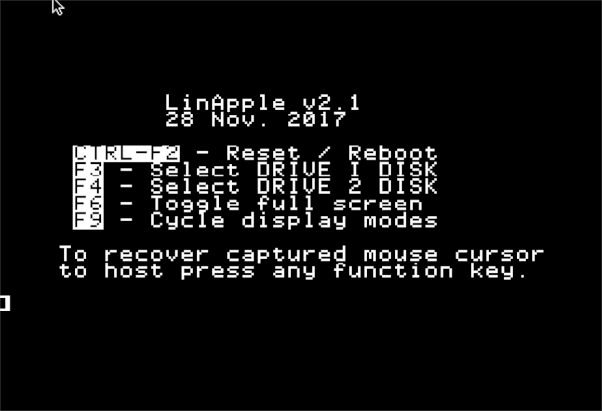 LinApple Apple II