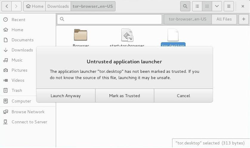 Tor Browser - App launcher