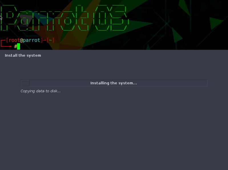 Instalando Parrot Sec OS en el sistema