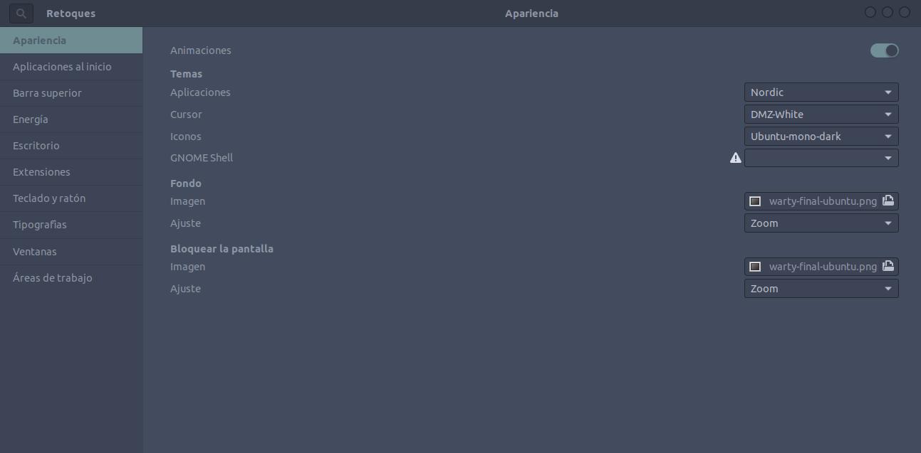 Tema Nordic GTK en Linux