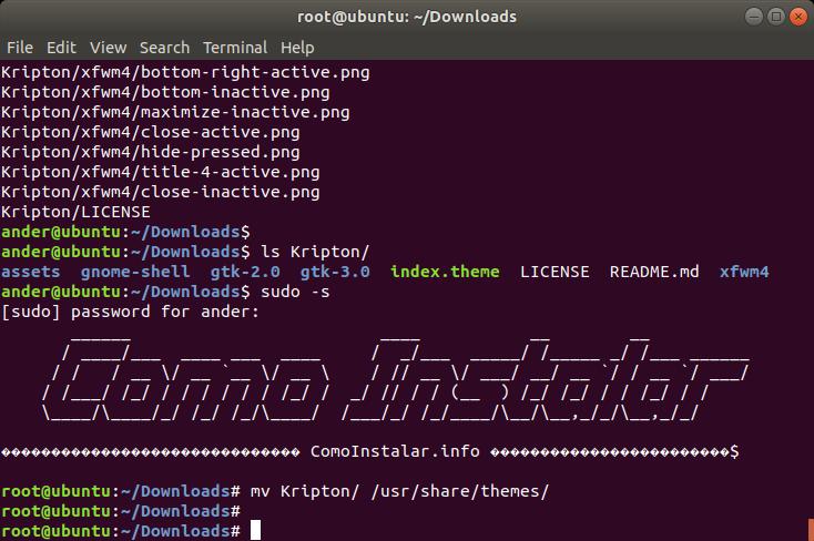 Configurar tema KRIPTON en Linux
