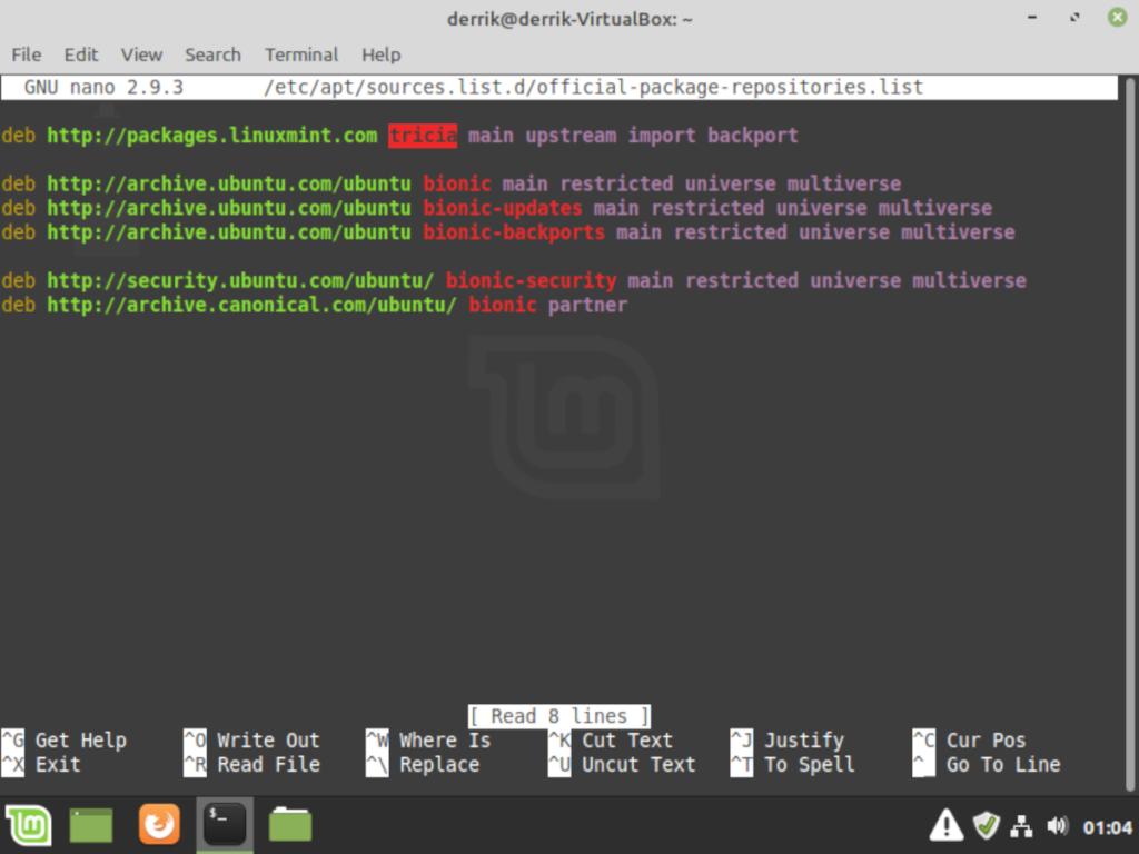 Linux mint19-3s