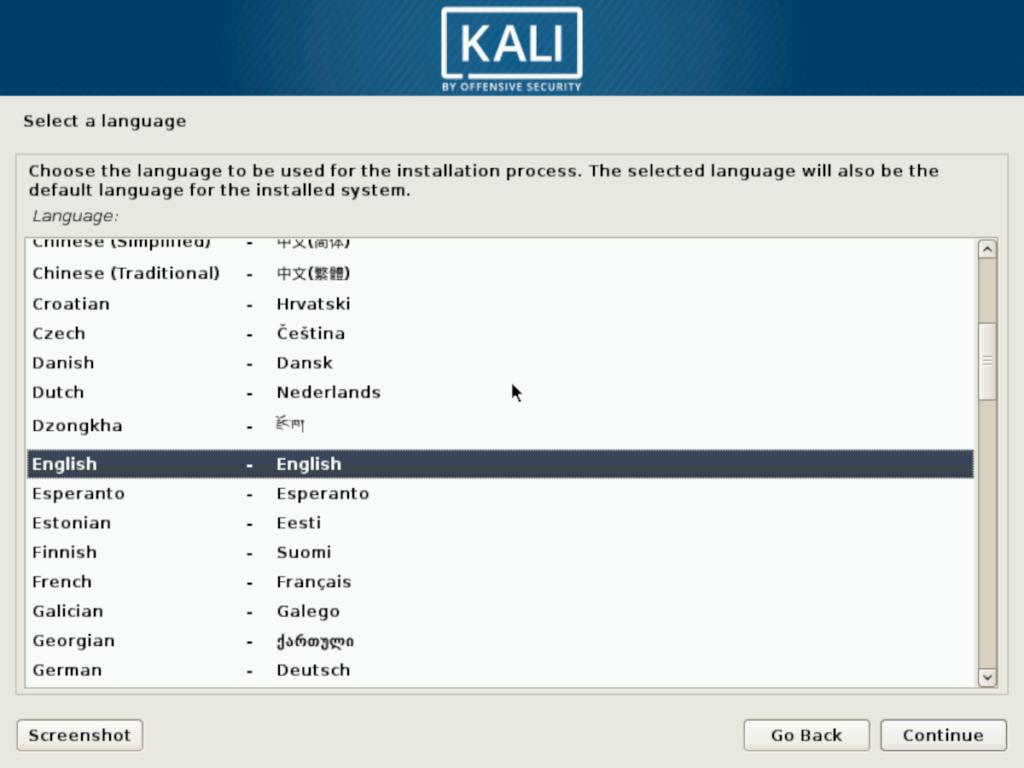 kali-language