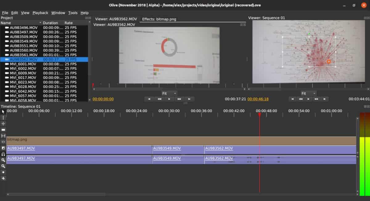 Olive editor de video