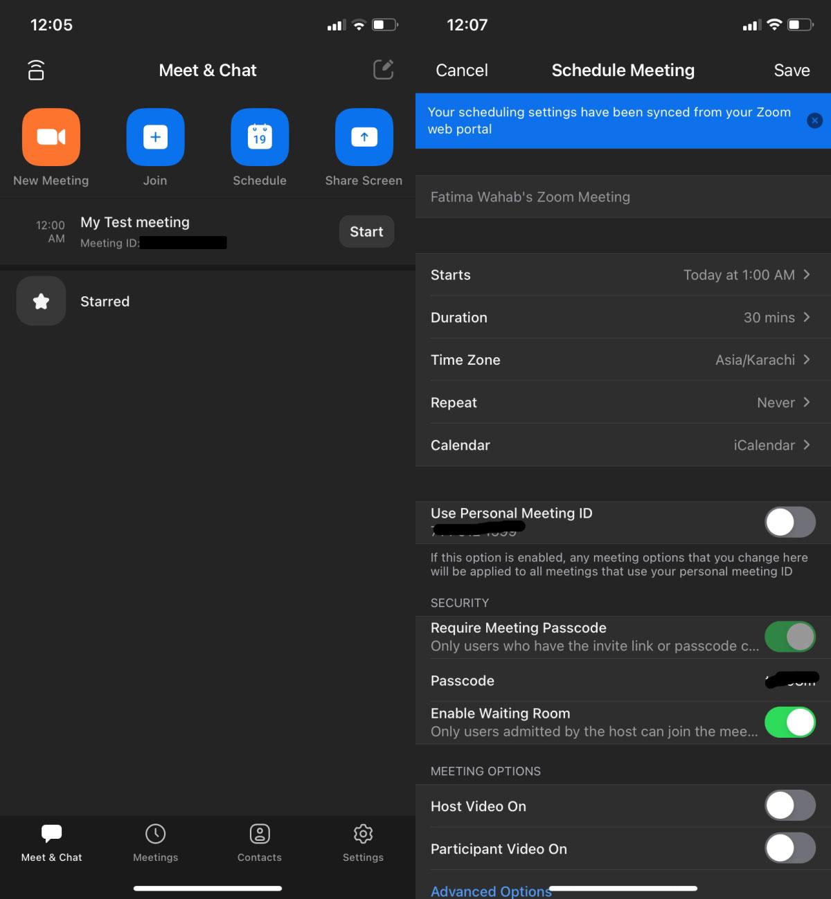 Configurar una reunión Zoom 2 - Móviles