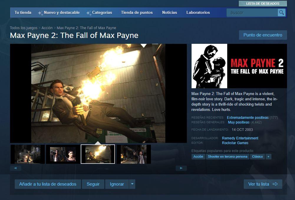 Max Payne 2 Steam